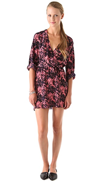 Thayer Crossover Printed Dress