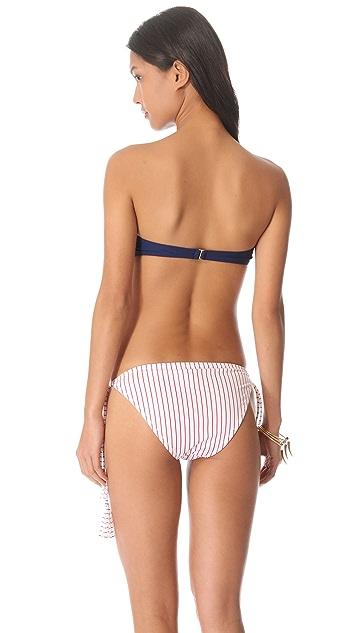 Thayer Ruffle Bandeau Bikini Top