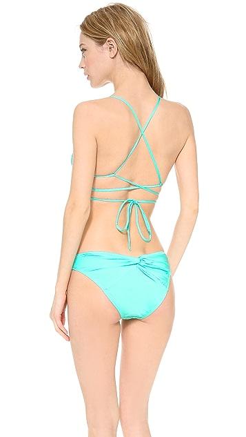 Thayer Crisscross Triangle Bikini Top