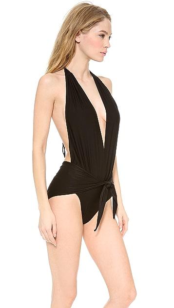 Thayer Splash Halter One Piece Swimsuit