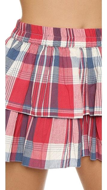 Thayer Tiered Beach Miniskirt