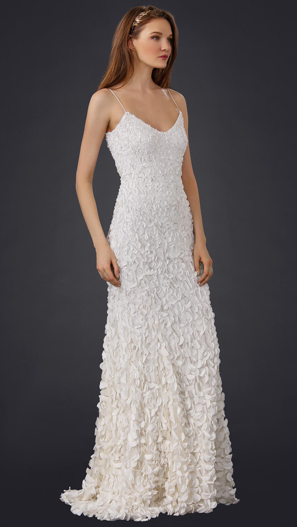 Theia Sleeveless Petal Gown | SHOPBOP
