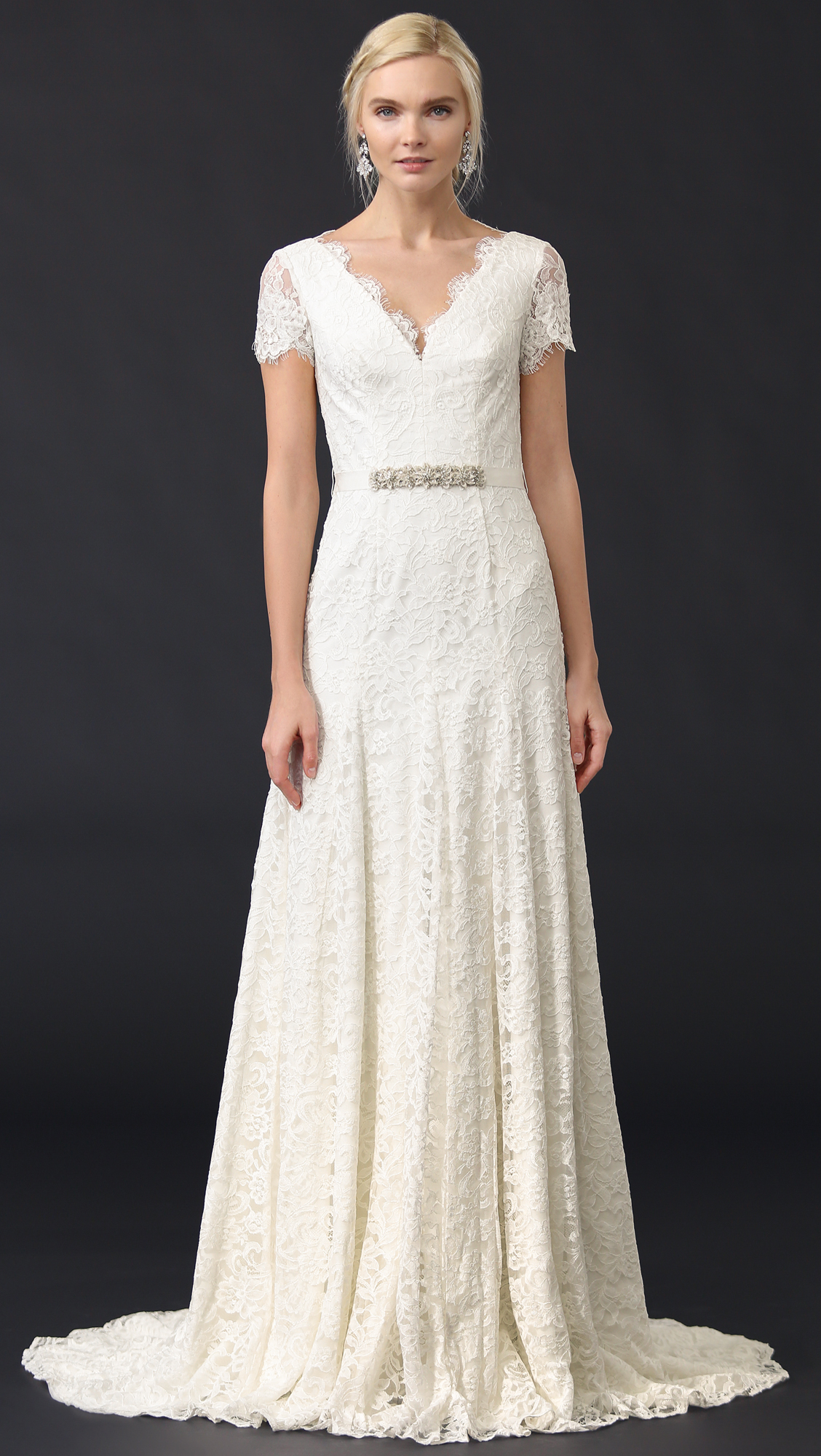 Theia Louise Gown with Belt | SHOPBOP