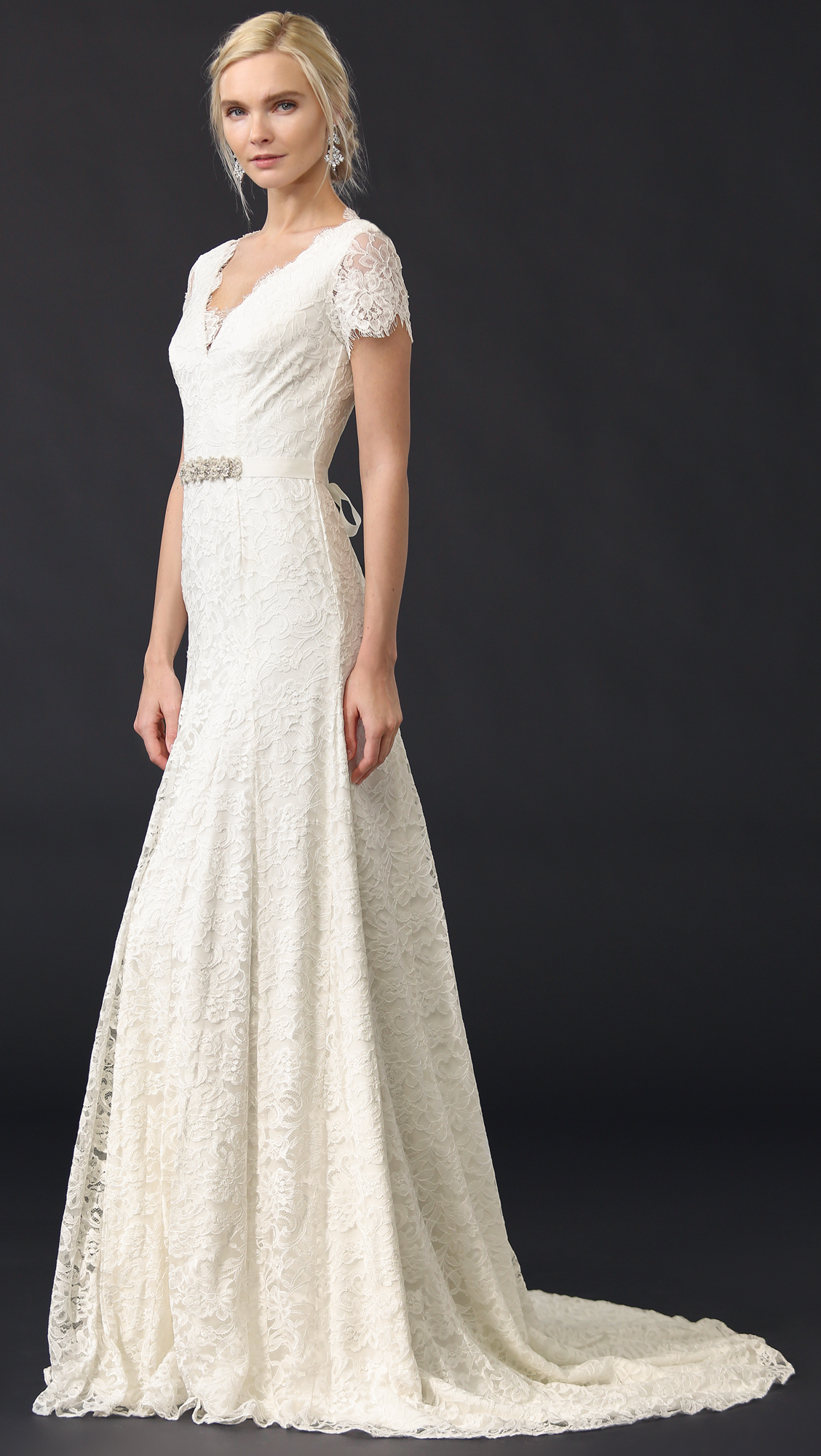 Theia Louise Gown with Belt | SHOPBOP SAVE UP TO 25% Use Code: EVENT18