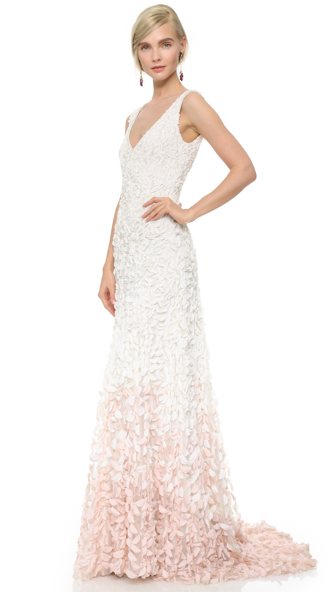 Theia Emma Embroidered Petal Gown | SHOPBOP