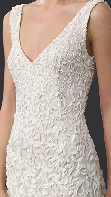 Theia Emma Embroidered Petal Gown