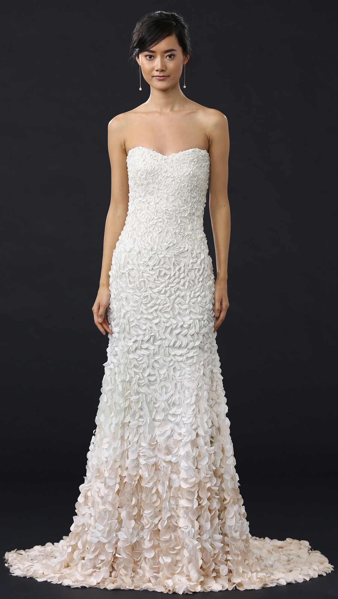 50d05b80d971 Theia Courtney Strapless Petal Gown   SHOPBOP
