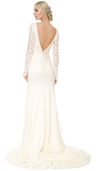 Theia Nicole Lace Gown - Ivory