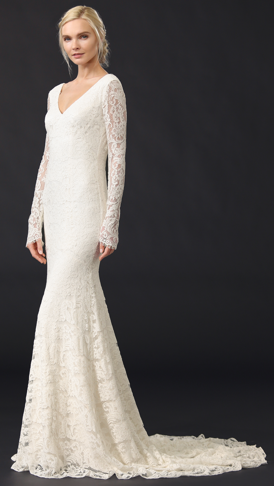 Theia Nicole Lace Gown | SHOPBOP