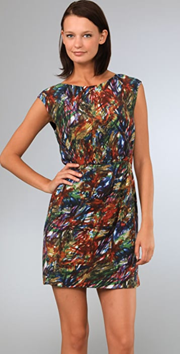 Theory Arena Abstract Print Dress