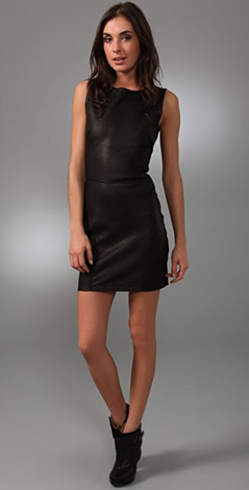 Theory Arden Leather Combo Dress