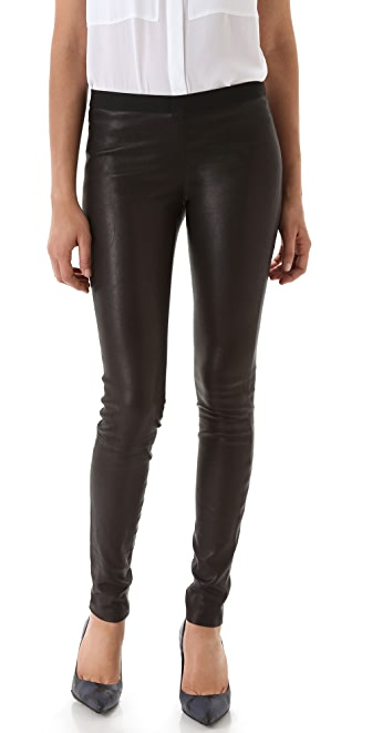 Theory Leather Leggings
