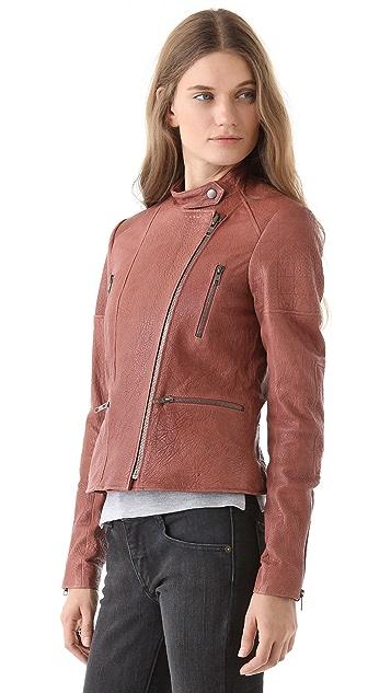 Theory Macha Juno Leather Jacket