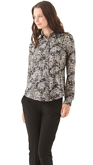 Theory Eva Snake Lace Blouse