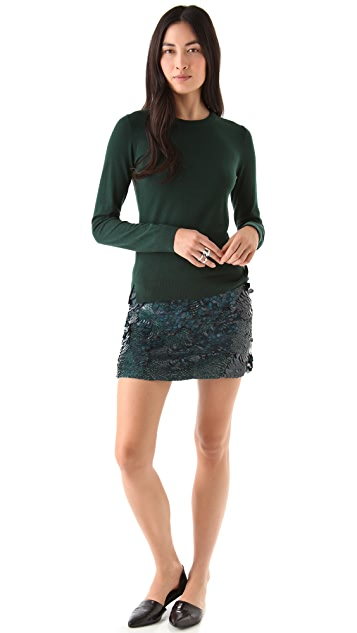 Theory Baraly Sequin Skirt