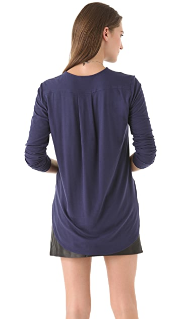 Theory Alania B Ribbed Viscose Top
