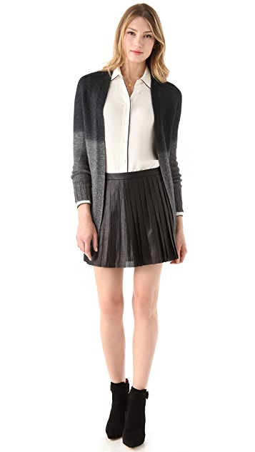 Theory Caon Discens Leather Skirt