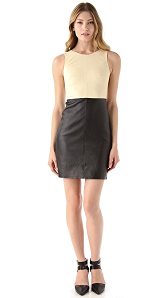 Theory Feria C Danish Leather Dress