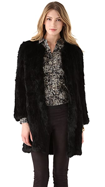 Theory Reesa Peruvian Fur Coat