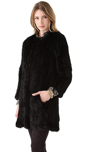 Theory Reesa Peruvian Fur Coat