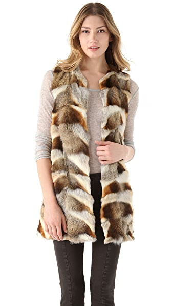 Theory Persia Vanner Fur Vest