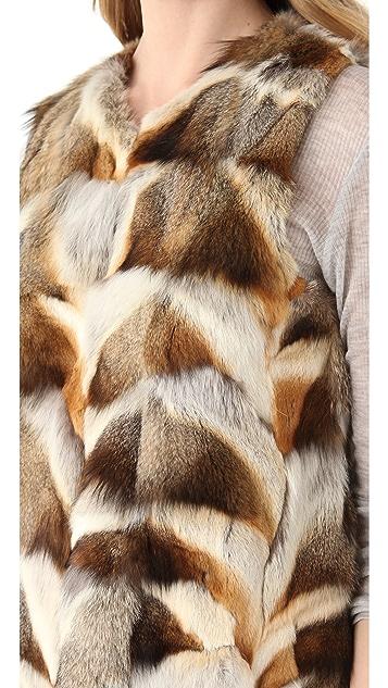 Theory Persia Vanner Fur Vest