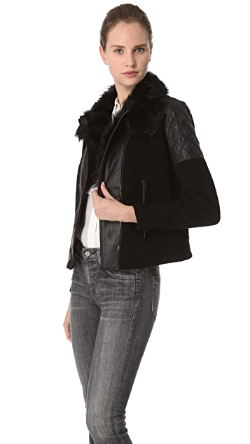 Theory Marini Textured Hide Jacket