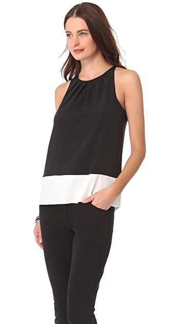 Theory Milka C Basque Top