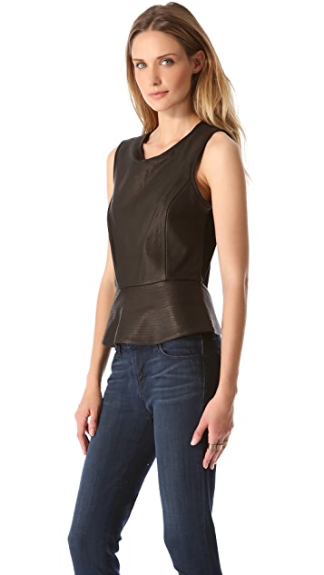 Theory Eleeria LC Leather Top