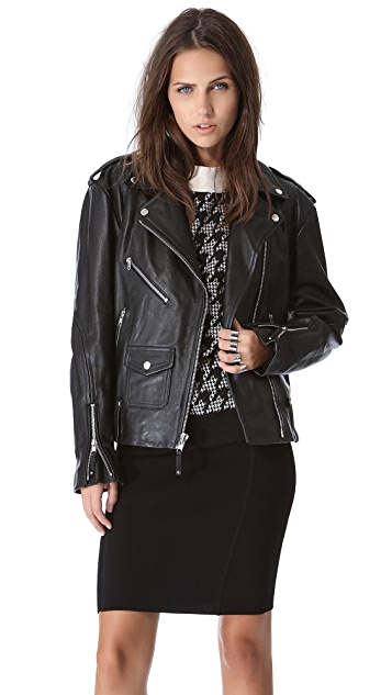 Theory Dalayan Leather Jacket