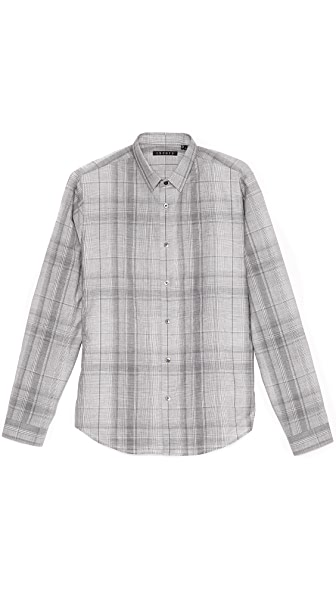 Theory Stephan Houlton Plaid Sport Shirt