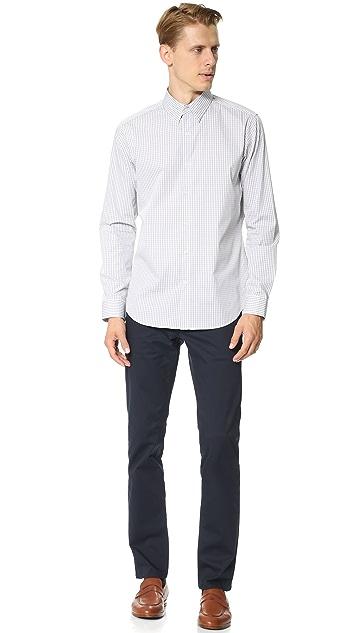 Theory Sylvain Gingham Dress Shirt