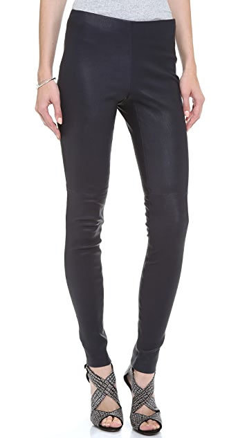 Theory Piall L Leather Pants