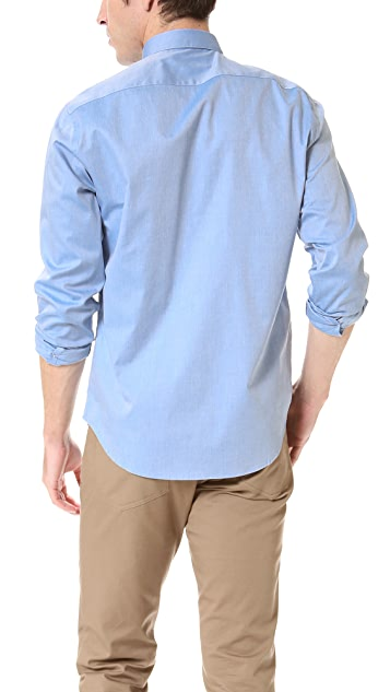 Theory Zack Solid Dress Shirt
