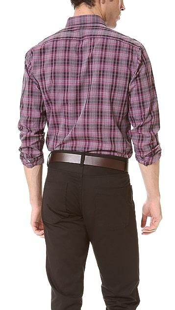 Theory Zack Plaid Dress Shirt