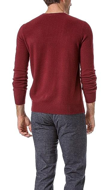 Theory Riland VT Cashmere V Neck Sweater