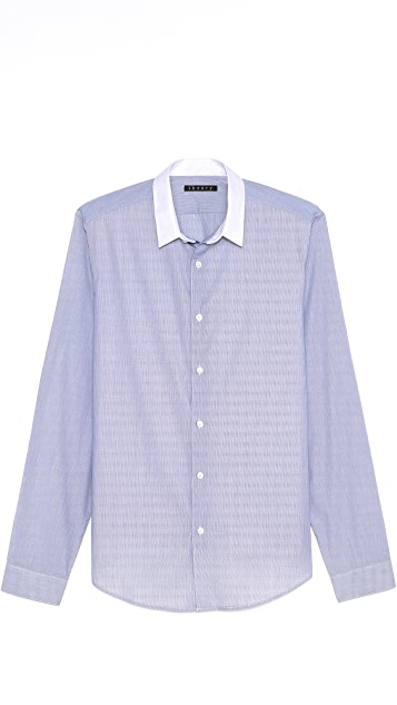 Theory Stephan CC Marling End on End Shirt