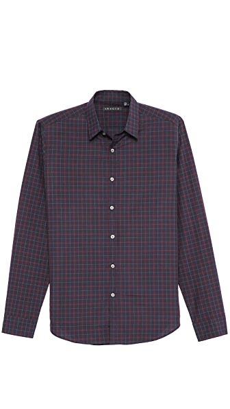 Theory Zack PS Morverne Plaid Sport Shirt