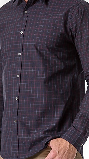 Theory Zack PS Morverne Plaid Sport Shirt