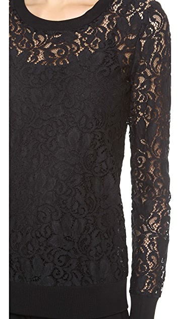 Theory Veneza Jaidyn Lace Top