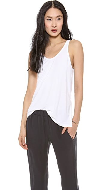 Theory Ribbed Viscose Betwin Tank