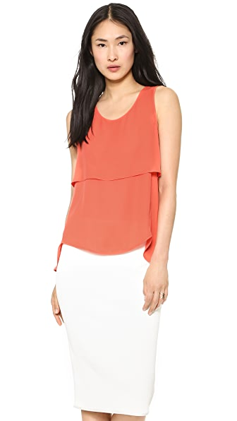 Theory Double Georgette Apala Tank