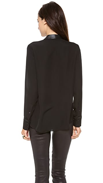 Theory Double Georgette Kyna Blouse