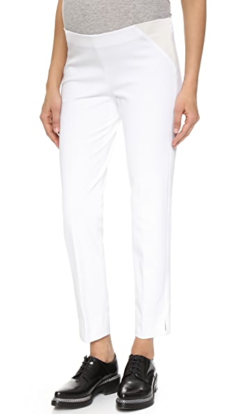 Theory Maternity Bistretch Belisa Pants - White at Shopbop