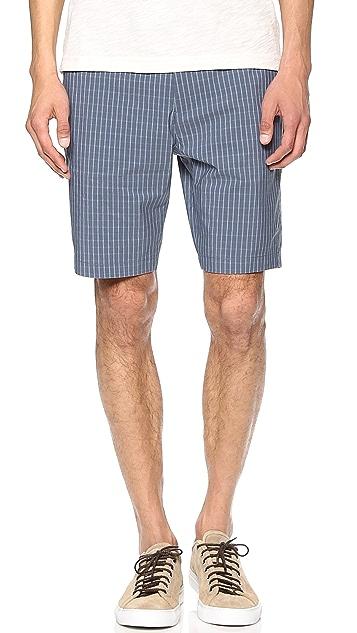 Theory Zaine Check Shorts