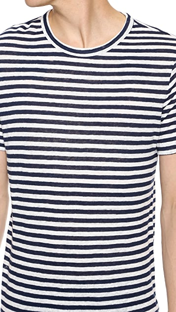 Theory Andrion Striped T-Shirt
