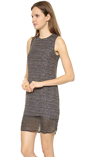 Theory Multi Tweed Print Hassil C Dress