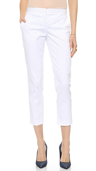 Theory Custom Stripe Item Cropped Pants