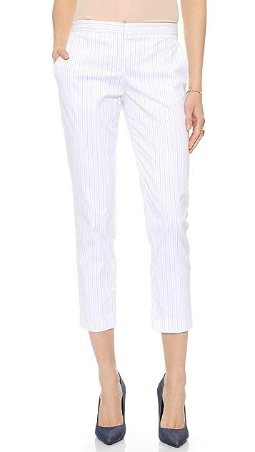 Theory Custom Stripe Item Cropped Pants