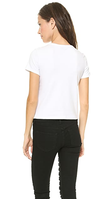 Theory Classic Tee Cropped Crew